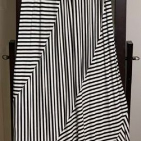 Black/White Stripe Maxi Skirt *Final Sale*