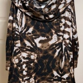 Brown Animal Print Cowl Neck Tunic *Final Sale*