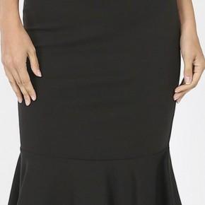 Midi Flounce Skirt