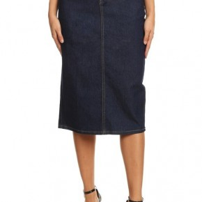 Be-Girl Midi Skirt Stretch Denim ~ Dark Indigo~496 *Final Sale*