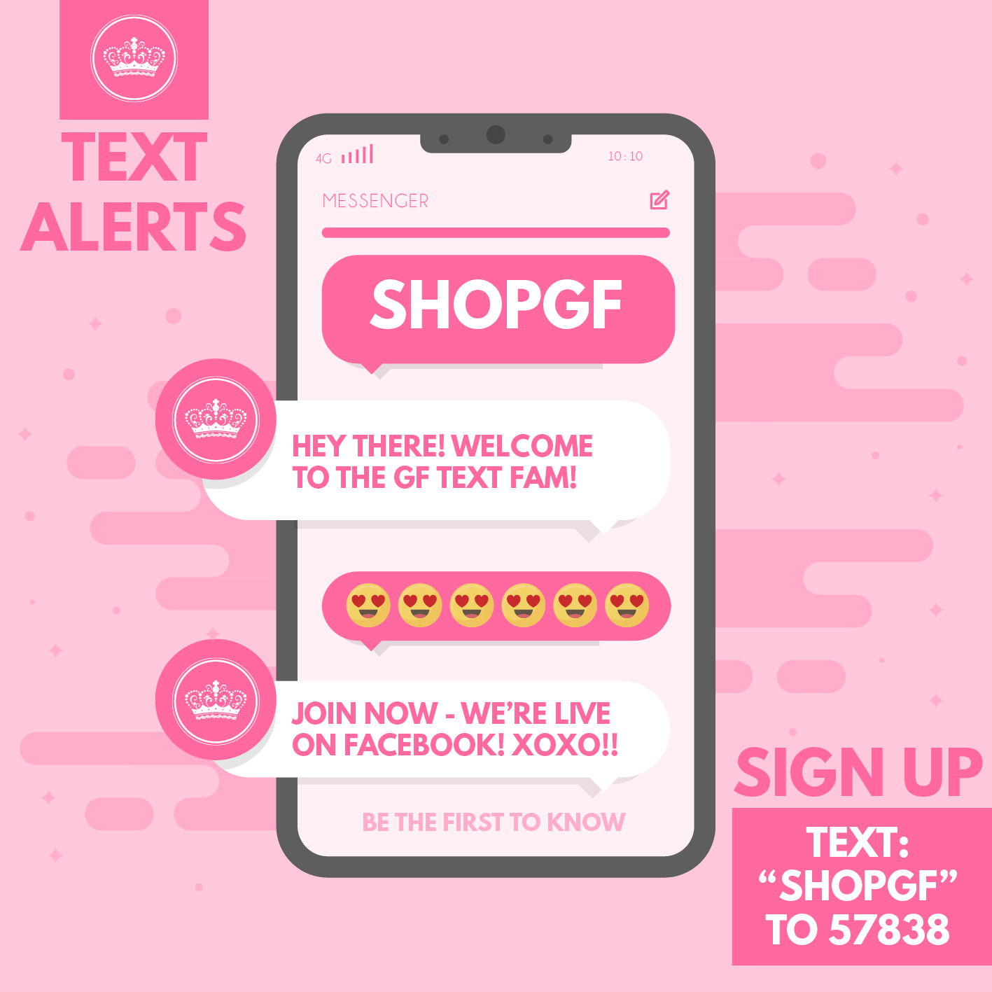 Glamour Farms Boutique Text Alerts
