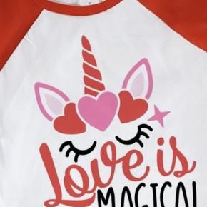 Love is Magical Youth Valetine's Day Tee.