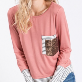 Stripes & Sparkles Top
