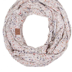 C.C Cable Knit Confetti Infinity Scarf