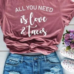 Love and Tacos Graphic Tee
