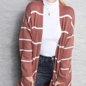 Striped Oversize Cardigan