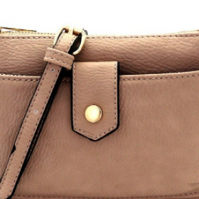 Cute as a Button Crossbody in Taupe