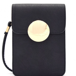 Mini Crossbody Cell Phone Holder in Black