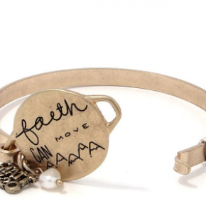 Faith Can Move Moutains Metal Bracelet