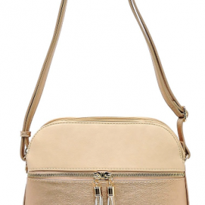 Take Me Everywhere crossbody in Nude and Rose Gold