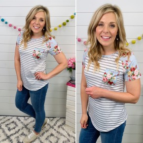 The Spring Roses Top
