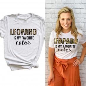 My Favorite Color is Leopard Tee