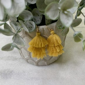 Shall We Dance Earrings - Goldenrod