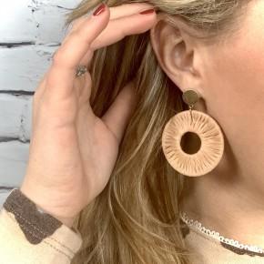 Mocha Raffia Earrings
