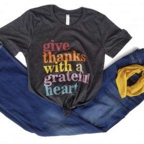 Give Thanks With a Grateful Heart Tee- only 3XL *Final Sale*