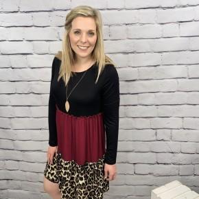 The Redbank Leopard Dress