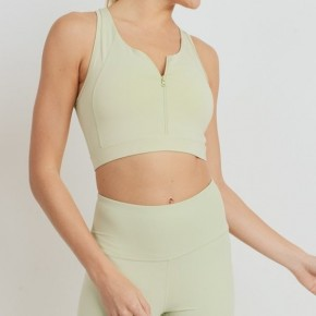 Light Green Racer Back Sports Bra by Mono B