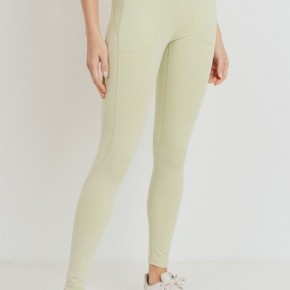 Light Green Leggings by Mono B GREEN