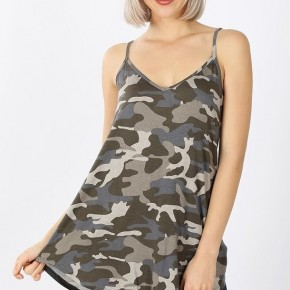 Camo Spaghetti Strap Tank All Sizes