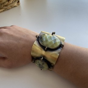 Stone Cuff Bracelet by Panache