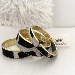 Dangle Bracelet Set Zebra by Panache