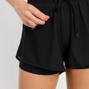 Lined Workout Shorts by Mono B