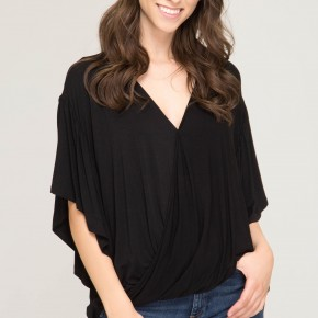 Everyday Black Loose Top *Final Sale*