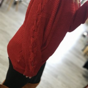 Red Sweater Dolman