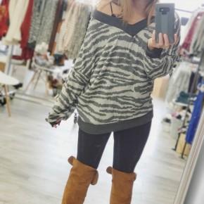 Tiger Print Sweater