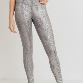 Silver Snake Print Legging by Mono B (all sizes)