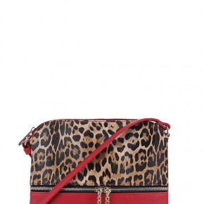 Leopard Crossbody Red Purse