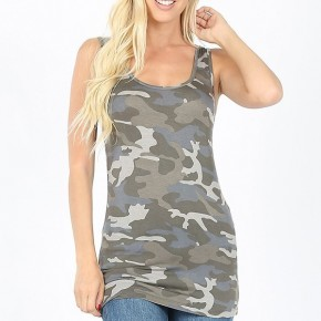 Fitted Camo Tank