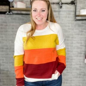 Multi Color Block Sweater