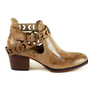 Leather Wrap Strap Bootie *Final Sale*