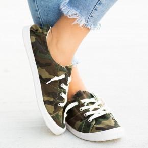 Canvas Camo Sneaker
