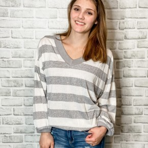 Honey Bee Striped Knit Top