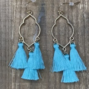 Clover Baby Tassel Dangle Earrings