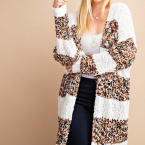 Honey Bee Stripe Fuzzy Cardigan
