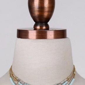 Beads and Gold Choker
