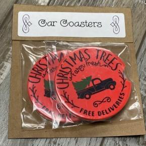 Christmas Truck Car Coaster