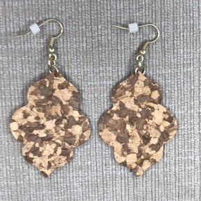 Cork Clover Drop Earrings