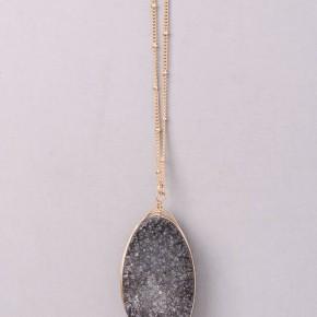 Sparkling Druzy Stone Pendant Necklace