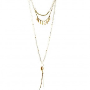 Modern Multi Beaded and Layered Necklace