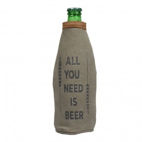 ALL YOU NEED IS BEER BOTTLE KOOZIE *Final Sale*