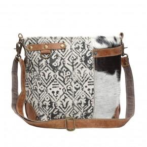 Hairon and Cotton Rug Shoulder Bag