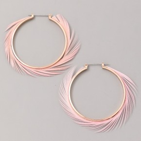 Feather Swirl Hoop Earrings