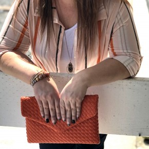 Woven Braid Envelope Clutch