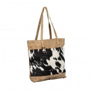 Cocoa Leather & Hairon Bag