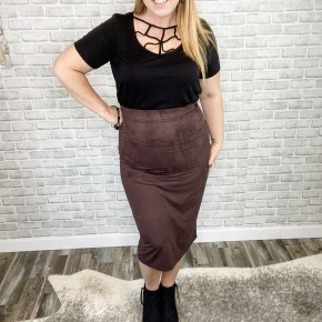 Ultra Suede Pencil Skirt