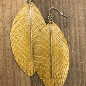 Leather Leaf with Bar